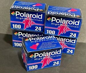 POLAROID High Definition 100 35mm Color Film 24 Exp. Expired Film (NOS)