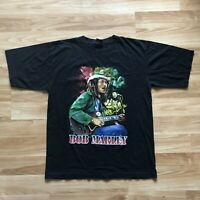 Vintage Bob Marley Reggae Double Sided Hip Hop Rap T Shirt XXL Rare
