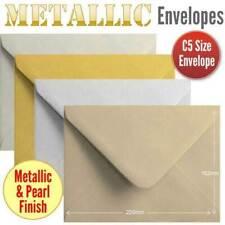 100 Metallic Colour Envelopes. Multi Coloured C5 Gummed Metallic Envelopes.