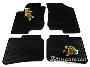 4 x Gummi-Fußmatten ☔ für HYUNDAI i30 2007 - 2011