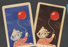 Playing Swap Cards 2 GENUINE VINT  AUST   WHITE  KITTEN & BALLOON        #438
