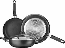 Premier Non Stick Induction Bottom 4 piece set Tawa + FryPan + Kadai + Glass Lid