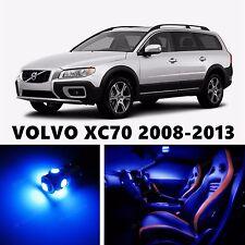 14pcs LED Blue Light Interior Package Kit for VOLVO XC70 2008-2013