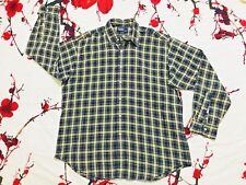 POLO by RALPH LAUREN Blake 100% Cotton Check Flannel Shirt Size L