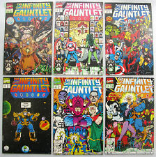 Infinity Gauntlet  #1 - 6 Complete Run HOT SERIES! Thanos Avengers EXCEL! Movie!