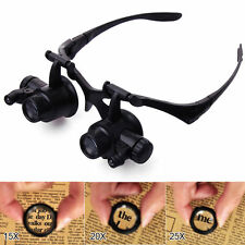 10X 15X 20X 25X Eye Glasses Jeweler Watch Repair Magnifying Magnifier Loupe TE62