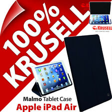 Krusell Malmo Tablet Case Stand Folding Slim Cover Navy Blue for Apple iPad Air