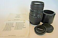 SIGMA AF 70-300mm F4-5.6 DL MACRO SUPER LENS CANON EF FILM ONLY EXCELLENT COND