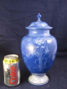 Rare Large Royal Worcester Sabrina Ware Vase  & Cover FLowers & Butterflies 1900