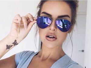 Ray-Ban Unisex Mirror Aviator VIOLET PURPLE Sunglasses  🇺🇸 USA