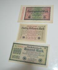 Lot GERMAN REICHSBANKNOTE 1922 1000 MARK 1923 2000 Millionen