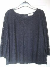 Next Navy Lacy Top Size 14