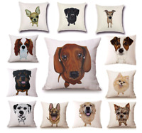 Dog Cushion Covers 45cm Printed Puppy Throw Pillow Gift! 20+ BREEDS IN STOCK!