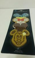 Disney Parks Mickey Minnie Mouse Ears Dessert Coaster Set 4 Piece Silicone NEW