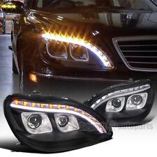 1998-2006 Mercedes Benz W220 S320 S420 Projector LED Signal DRL Black Headlights