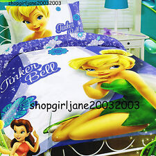 Disney Fairies Tinkerbell ❈ Friends ❈ Double Bed Quilt Doona Duvet Cover Set