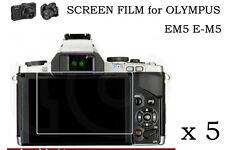 5 HD Ultra Clear LCD Screen Protector Film Skin For Olympus OM-D E-M5 OMD EM5