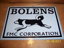 "1- 4"" X 6"" BOLENS FMC CORP. (New Black and White) Vinyl Sticker"