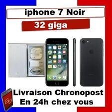 IPHONE 7 32 GO NOIR Reconditionné DÉBLOQUÉ TOUT OPÉRATEUR  TÉLÉPHONE 32 GIGA