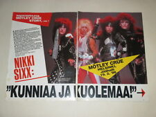 Motley Crue Alice Cooper Sixx Tommy Lee Mars cuttings clippings Finland Finnish