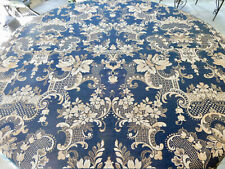 Antique Tapestry Table Cloth With Tassel Ends 56X58