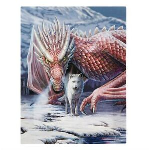 ALLIANCE SNOW DRAGON WOLF SMALL CANVAS PICTURE ART PRINT LISA PARKER FANTASY