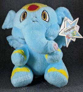 "NWT 2004 Blue Elephante Neopets Plushie Stuffed Animal 6"" toy elephant Star tag"