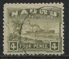 Nauru 1924 4d olive green used