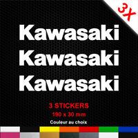 3 Stickers KAWASAKI Autocollants Moto Adhésifs Déco Scooter Bécane