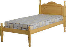 SOL SOLID PINE WOOD 3FT SINGLE BED IN ANTIQUE PINE FRAME - FREE FAST DELIVERY