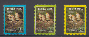 COSTA RICA 1979 BIRDS/YEAR OF THE CHILD STAMPS SC C747-9  MNH TOP48