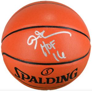 "Allen Iverson Philadelphia 76ers Signed Basketball with ""HOF 16"" Inscription"