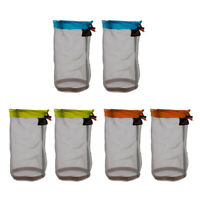 6 Pieces Ultra Light Mesh Stuff Sack Storage Bag Pouch for Tavel Camping