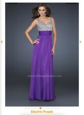Long La Femme Celebrity 16802 Dress Size 8 Electric Purple