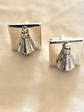 Rare HTF Apollo Space Shuttle Cuff Links Vintage Silver NASA Astronaut