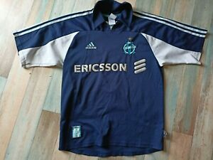 MAILLOT FOOT ADIDAS OM OLYMPIQUE DE MARSEILLE N°7 PIRES TAILLE S/D3 BE