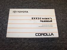 1993 Toyota Corolla Sedan Owner Owner's Operator User Guide Manual DX LE
