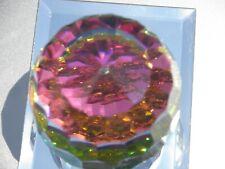 Swarovski / Gorham Revolution / Atomic Vitrail Crystal Paperweight/ Rare Label