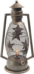 "Urbalabs 16"" Metal Rustic Vintage Western Decorative Lanterns Flameless Lamp"