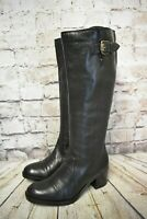 Womens Clarks Mascarpone Ela Black Leather Knee High Boots UK 4.5 EU 37.5