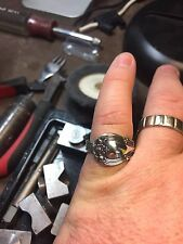 Antique 1800's  Sterling  Silver   Fork / Spoon  Ring Custom Made