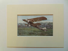 BIPLANE AIRCRAFT HANDLEY PAGE GUGGENHEIM-VINTAGE PRINT-1930-in 6x8in mount