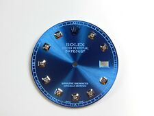 Rolex Men's Datjust II S-S  glacier Blue Custom Diamond Dial - Case 41mm