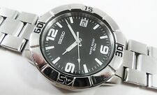 Seiko Silver Tone Stainless Steel 7N42-8331 Sample Watch NON-WORKING