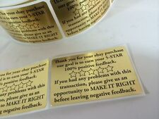 Thank You for your eBay Purchase/FB 2x3 GOLD FOIL Color 500 NEW GOLD FOIL