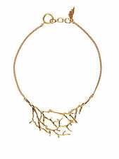 Diane von Furstenberg 18K Gold-Plated Twigs and Links Frontal Necklace NEW