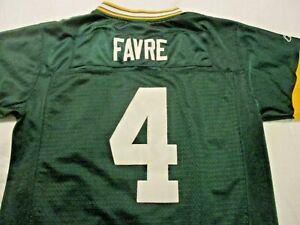 Green Bay Packers #4 Brett Favre Sewn Reebok Jersey Youth Boy's Large