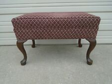 Ottoman French Cabriole Bench Queen Anne Footrest Country Foot Stool Provincial