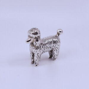 Cute Sterling Silver Poodle Dog Paperweight figure, Hallmark Collette 925 c1950s