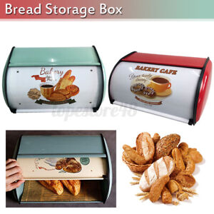 12L Kitchen Coffee Shop Bread Bin Bread Box Storage Keeper Loaf Containe